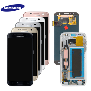 Image 2 - ORIGINAL 5.1 SUPER AMOLED LCD For Samsung Galaxy S7 G930 SM G930F G930F LCD Display With Touch Screen Digitizer Replacement