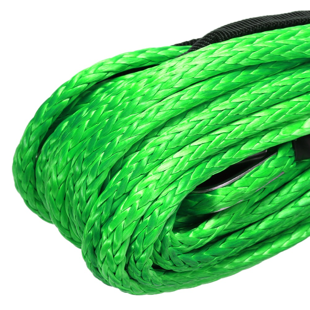 Image 5 - 15M 5500lbs High Strength Green Synthetic Winch Rope Cable Line with Hook Towing Ropes For ATV UTV Off Road-in Towing Ropes from Automobiles & Motorcycles