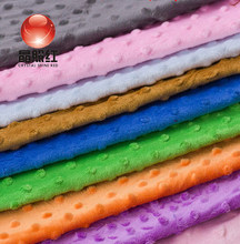 Super soft short compressed plush bean blanket cloth with bubble fluffy fabric 1m