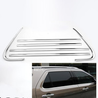 6pcs 304 Stainless Steel Door Window Frame Sill Molding Trim For Ford Explorer 2013 2014 2015 2016 2017 2018