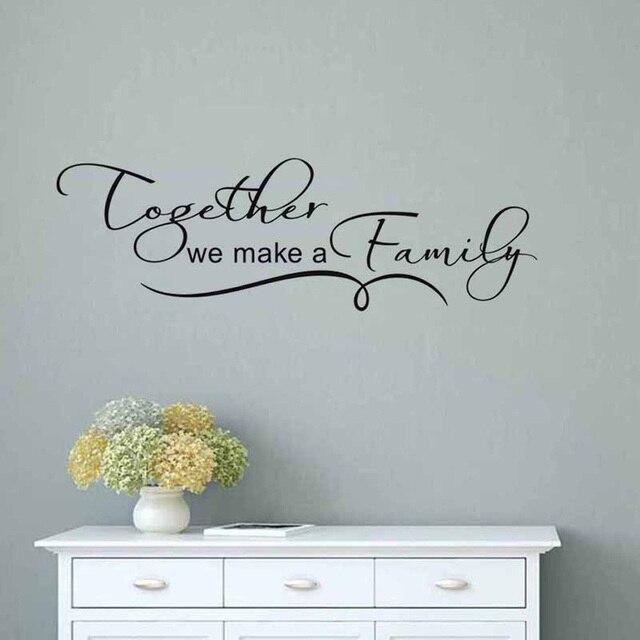 Wir Machen Eine Familie Zusammen Warme Spruche Wandaufkleber Fur