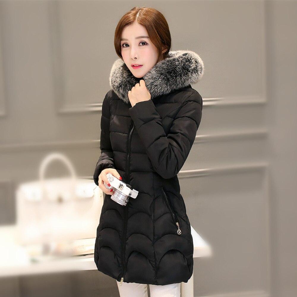 a6ca12448042 JOLINTSAI 2017 New Winter Jacket Women Hooded Slim Womens Winter Jackets  Coats Outwear Long Coat Female Cotton Parkas-in Parkas from Women's  Clothing on ...