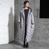 LANMREM Новая мода более размеры с капюшоном большой зимняя куртка 2018 женский однобортный теплое пальто Jaqueta Feminina YE958