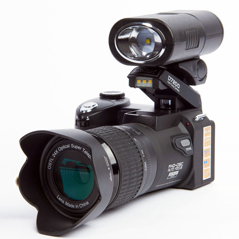 Protax/POLO D7200 Digital Video Camera 1080P DV Professional Camera 24X Optical Zoom Camera plus LED Headlamps 8MP CMOS