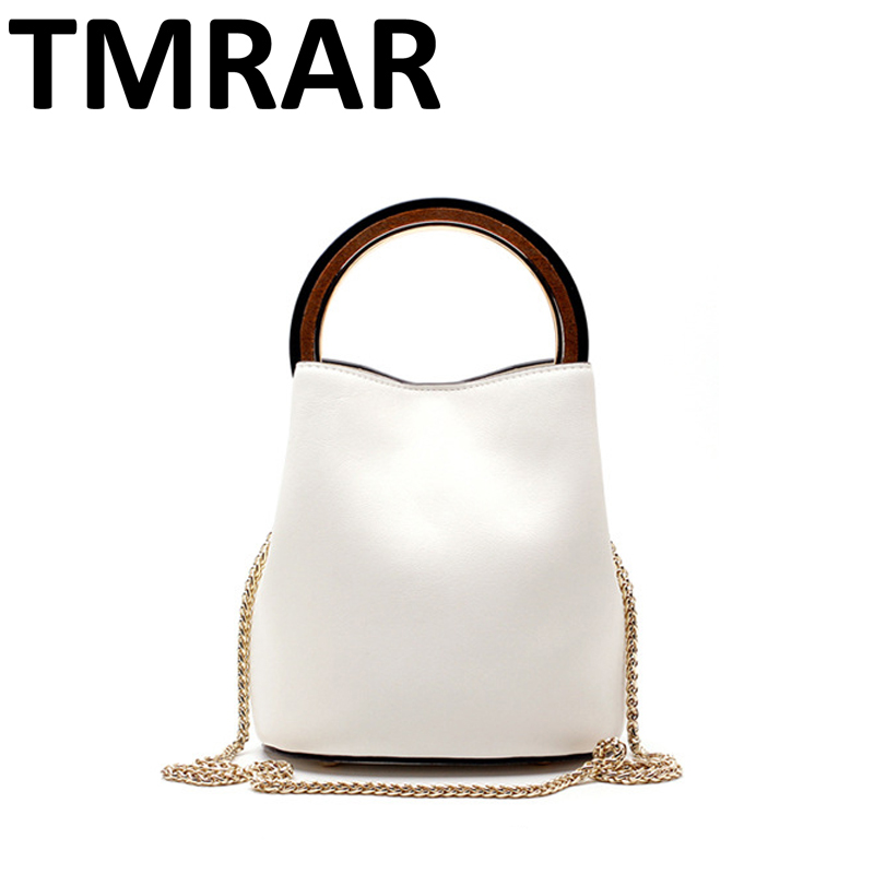 2017 New classic retro bucket messenger bags lady split leather handbags for female women chains shoulder bags bolsas qn204 2017 new classic messenger bags with metal ring popular tote lady split leather handbags women chain shoulder bags bolsas qn262