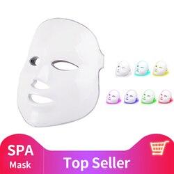 2019 Upgraded 7 Colors Light Photon LED Facial Mask Skin PDT Skin Rejuvenation Anti Acne Wrinkle Removal Therapy Beauty Salon