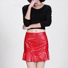 New Leather Skirt Sheepskin K153