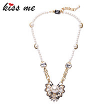 Ladies Simple Simulated Pearls Necklaces & Pendants Summer Party Brand Jewelry Classic Fashion Necklace(China)