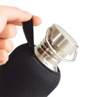 Sólo Artículos de Marca a prueba de Fugas Botella de Agua de Acero Inoxidable Frasco Frasco Ligero incluido Negro Carcasa de Neopreno 1000 mL BPA envío