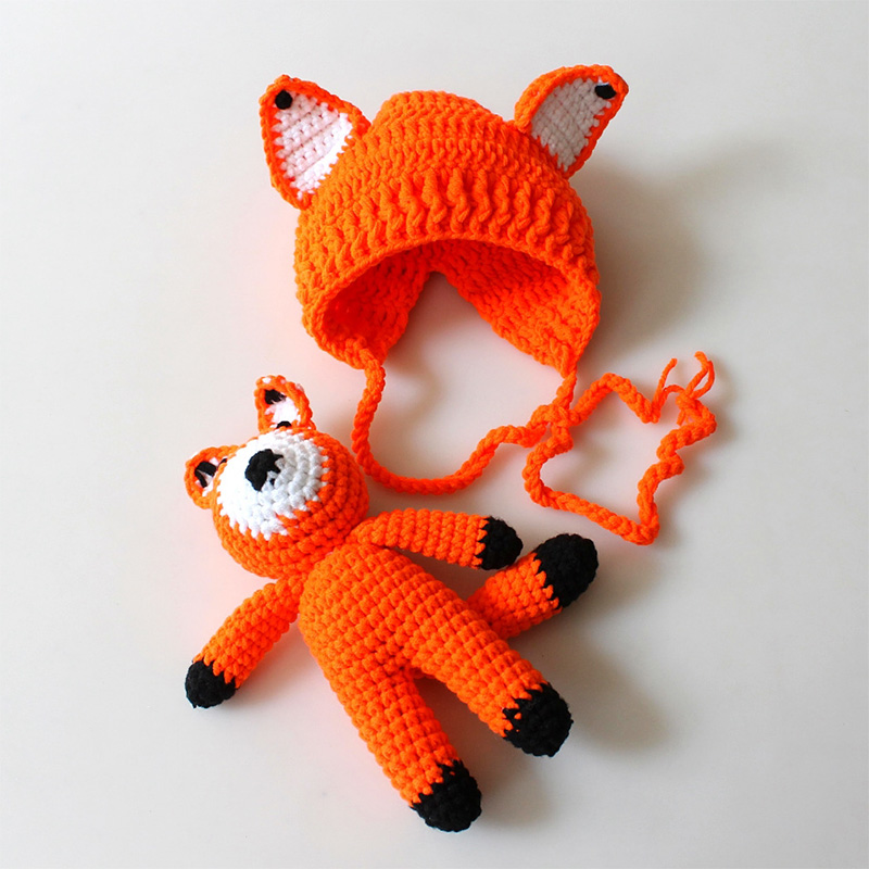 Amigurumi doll in fox costume   Fuchs kostüm, Fuchs häkeln und ...   800x800