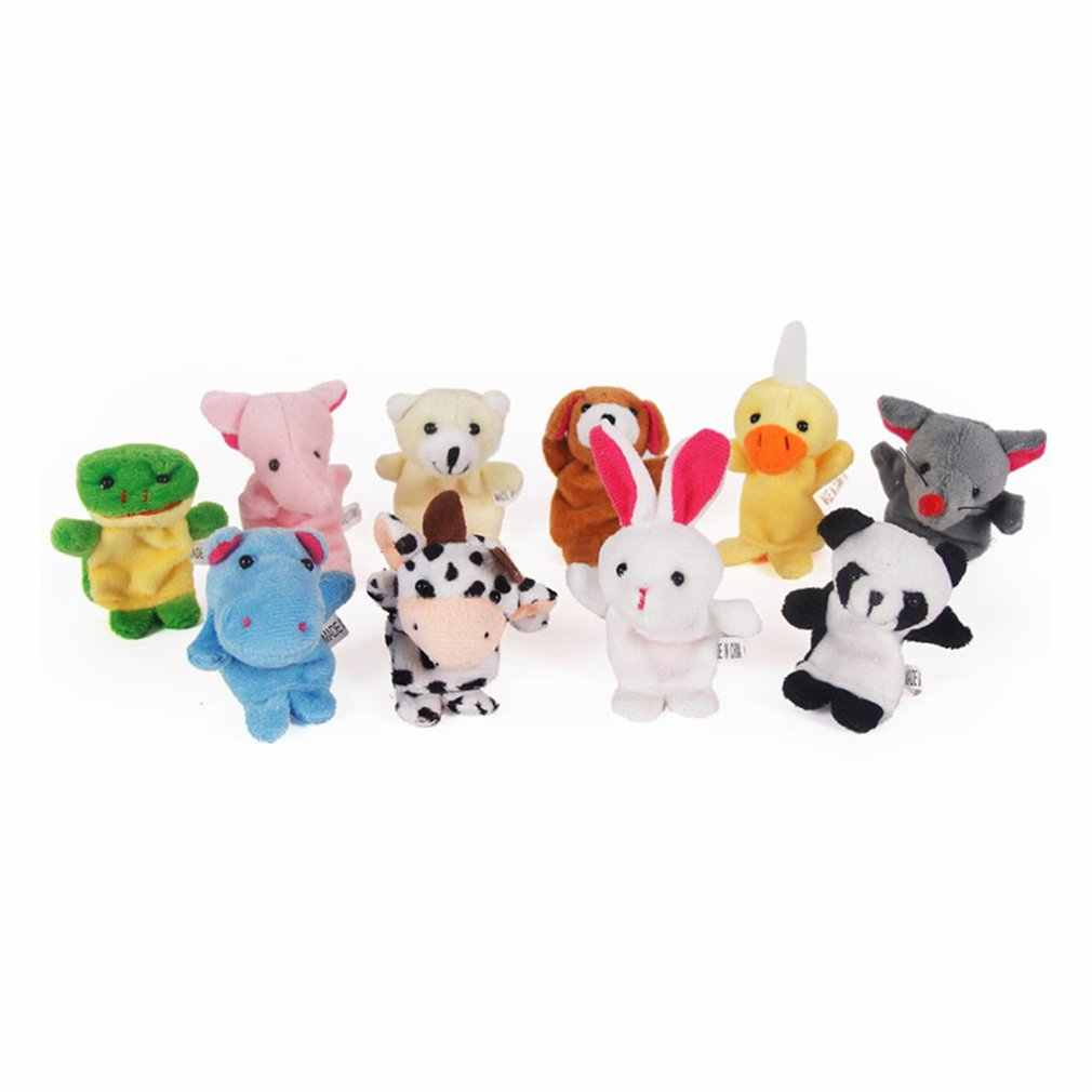 Забавные детские плюшевые игрушки животных Finger Марионетки двойной Слои с Средства ухода за кожей стоп Повествование реквизит кукла ручной кукольный дети Игрушечные лошадки Детский подарок