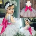 2016 Младенческая Baby Девушки Платье Дети Свадьба Платья Детская Одежда платье-де-феста infantil menina