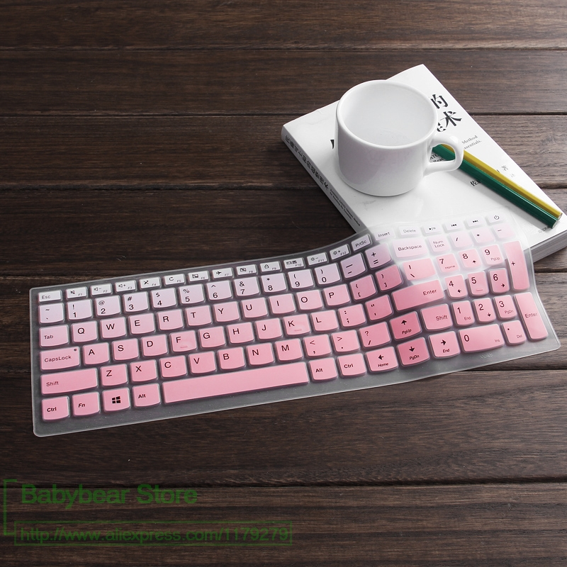 15.6 inch Silicone laptop keyboard cover skin For Dell