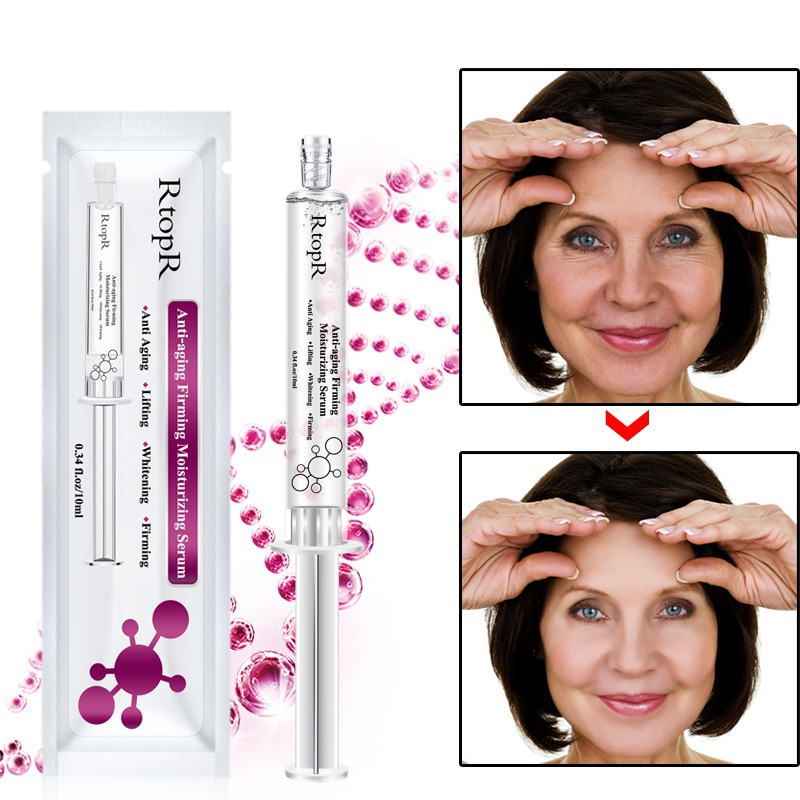 Facial Treatment Essence Hyaluronic Acid Injection Shrinkage Pore Anti-Aging Collagen Moisturizing Whitening Facial Serum