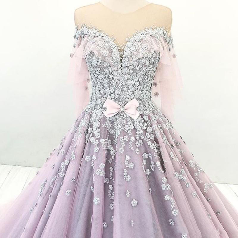 romantic-dubai-princess-engagement-dress-sheer-jewel-neck-bow-beaded-lace-applique-evening-dresses-glmorous-puffy-ball-gown-tulle-prom-dres