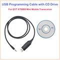QYT KT8900 KT-8900 Programação USB Cable & Software CD para QYT KT-8900 KT-UV980 KT8900R KT-8900R mini Dual Band Carro Móvel rádio
