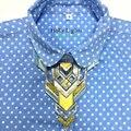2016 Nueva ZA moda geométrica gargantillas collar grande de Lujo de la vendimia Guapo máquina aleación declaración collar de las mujeres collares joyería