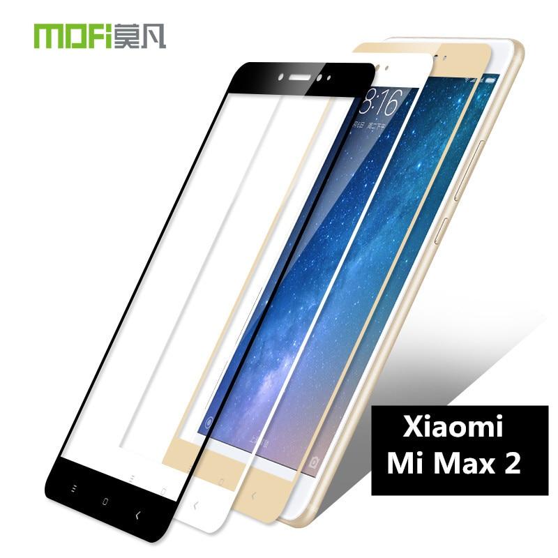 Xiaomi Mi Max 2 Glass Tempered Original MOFi Full Cover Protective Film Mi Max2 Screen Protector Xiaomi Mi Max 2 Tempered Glass