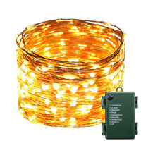 1 2 4pcs Battery Powered 30M 99FT 300LED Waterproof Warm White String Lights Copper Wire Christmas