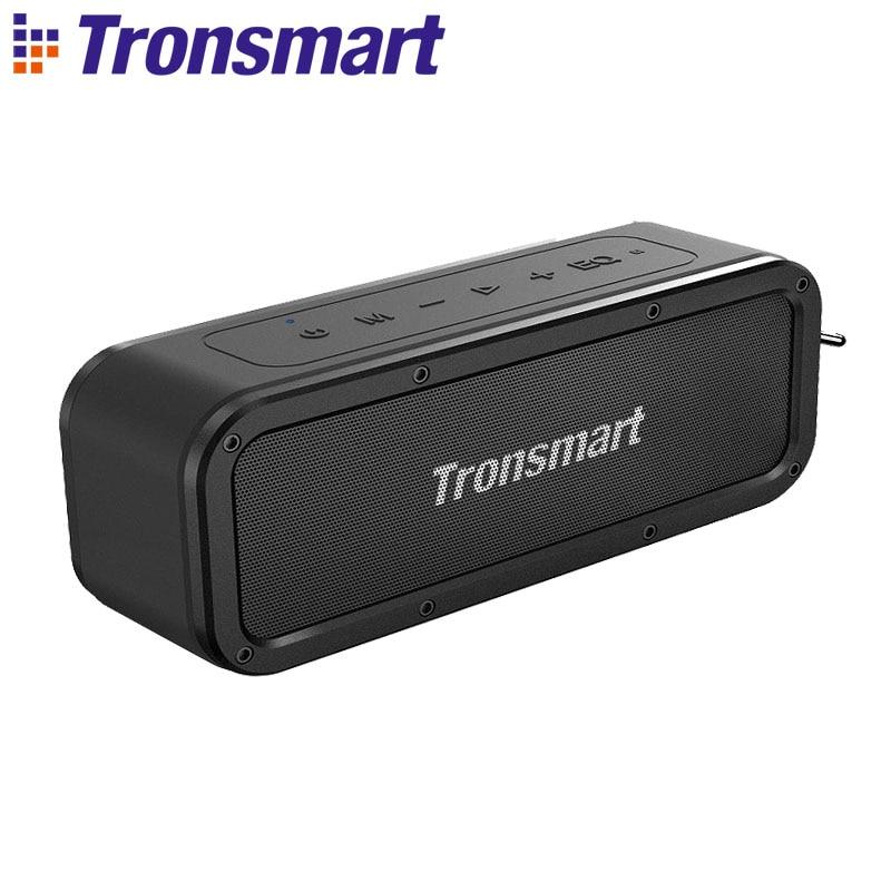 Tronsmart Force Bluetooth Speaker IPX7 40 W Saída Suporta NFC À Prova D' Água Bluetooth 5.0 Speaker Portátil, TWS, Assistente de Voz