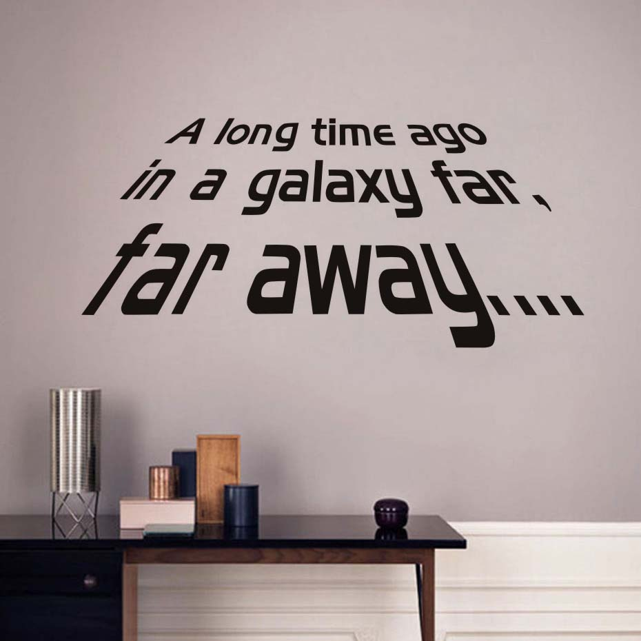 MILLENIUM FALCON STAR WARS vinyl wall art decal movie black poster ...