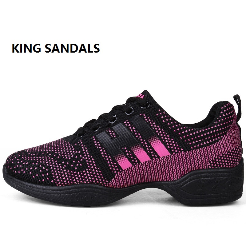2018 New Soft Outsole Breath Dance Shoes Women Sports Feature Dance Sneakers Jazz Hip Hop Shoes Woman Dancing Shoes Size 34-41 jazz shoes woman sports sneaker children dance shoes leather women shoes white four square fitness dance shoes