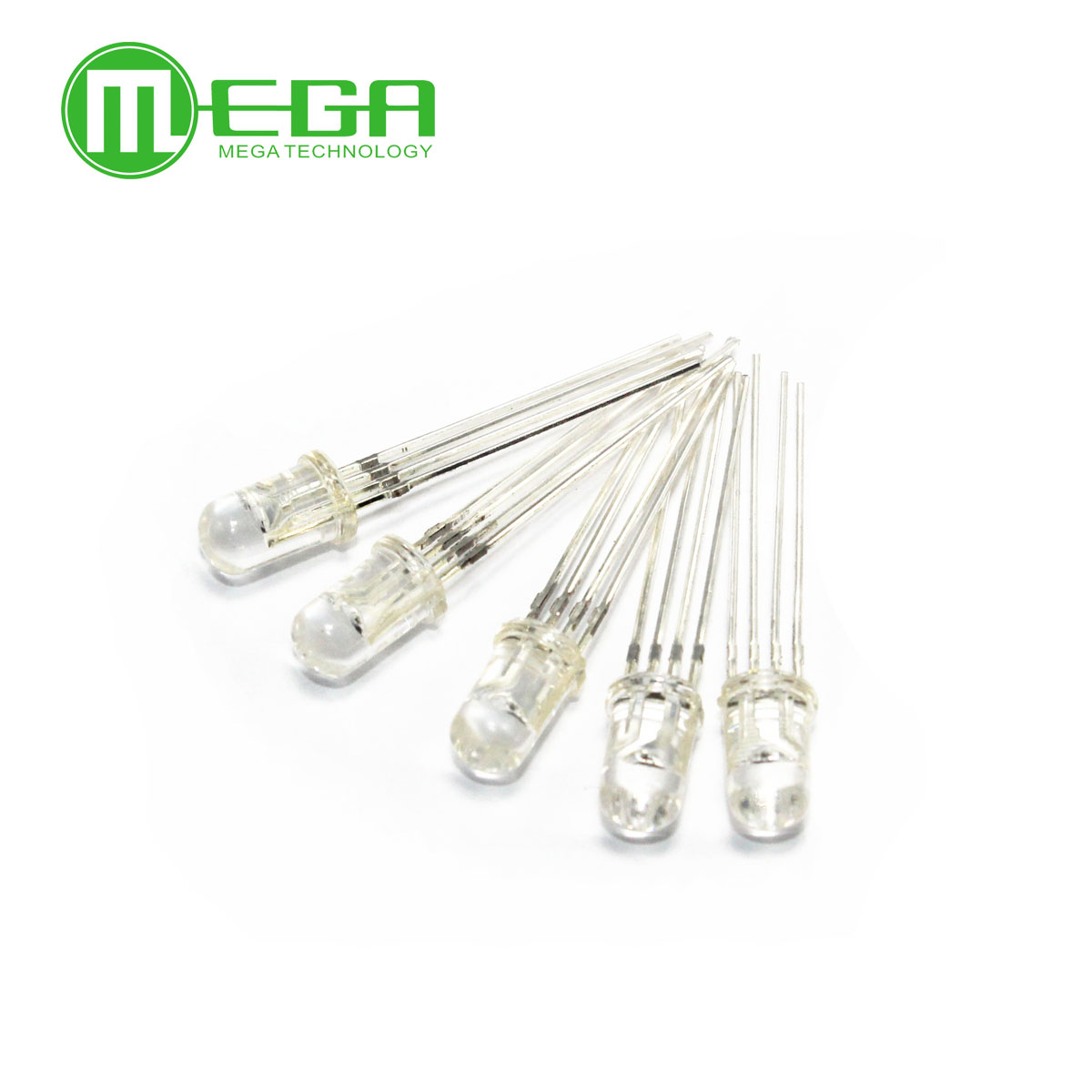 10pcs / 100pcs 5mm RGB LED Common Cathode Tri-Color Emitting Diodes F5 RGB Diffused