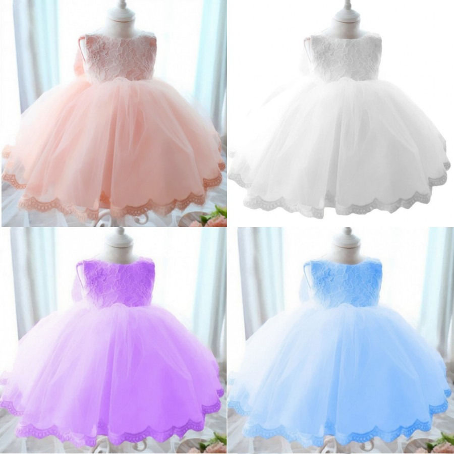 Sleeveless Girls Dresses Pageant Princess Flower Wedding Party Bridesmaid Flower Formal Ball Gown Lace Dress Summer Girl Enfant top quality new year girls dresses pageant princess flower dress for girl kids clothing formal wedding party gown