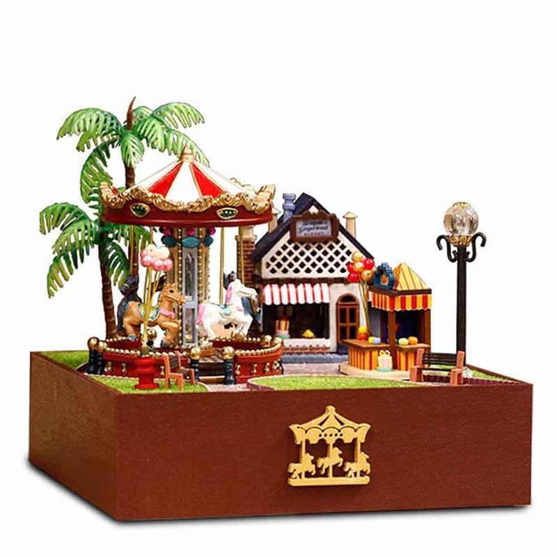Aliexpress Com Buy 3d Diy Dollhouse Assembly Miniatura