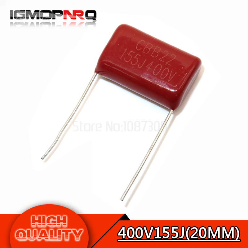 50 PCS Polypropylene Capacitors CBB22 400V 155J 1.5uF NEW