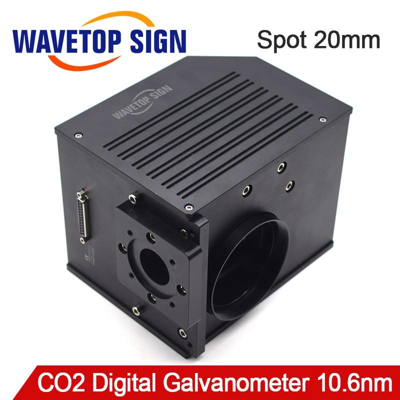 10.6um CO2 20mm de Abertura da exploração do Galvanômetro Digitalização Galvanômetro Do Laser fonte de Alimentação para A Máquina Do Laser do Scanner + DC24V