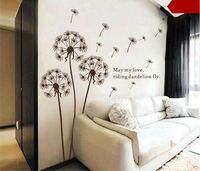 Dmuchawiec DIY Sofa Tło Naklejki Ścienne Wymienny Kwiaty Salon Wall Art Naklejka Home Decor