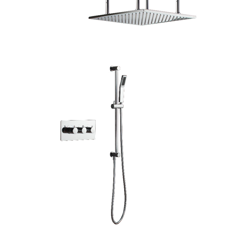 hideep regendusche set system messing badewanne dusche wasserhahn bad luxus regen dusche combo set wand eingelassen in hideep regendusche set system messing - Regendusche Set
