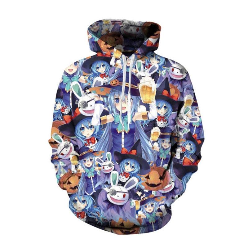 SOSHIRL Aqua Konosuba Halloween Hoodie Cool Anime Fans Hoodies Sweatshirt Comic Winter Pullover Unisex Hipster Sportwear Tops hoodie