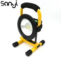 30W Rechargeable 24 LED Floodlight Portable Camping Lantern Spotlight Tent Lamp Working Lighting Power by 3*18650 Batteries