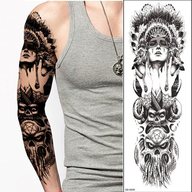 Full Body Henna Tattoo: NEW Full Flower Arm Tattoo Sticker Ancient Women Keep The