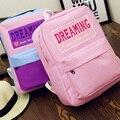 Atacado mochila de lona ocasional escolares moda feminina para sacos meninas mochila bonito ombro saco mochila carta bordado DL1924