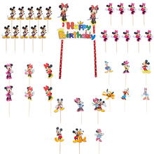 Cartoon Mickey cake topper Minnie Mouse Donald Duck Party Decorating tools Baby Shower Supplies Birthday kids