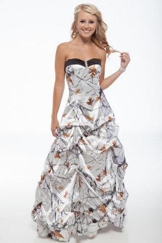 White Camo Prom Dresses 2019 Vestido De Festa Longo Camouflage Party Dress Free Shipping Shrink-Proof