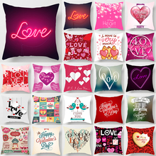 Fashion beauty love heart  pillow cases two sides printing square pillow cases cover pink Pillow case heart shape  pillow covers