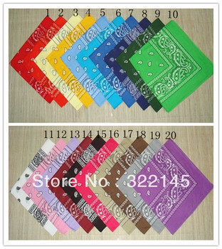 HOT SALE! 100% COTTON Lot Wholesale Dozen Bandanas 12 PCS Mixed Colors Paisley double sided head wrap scarf wristband