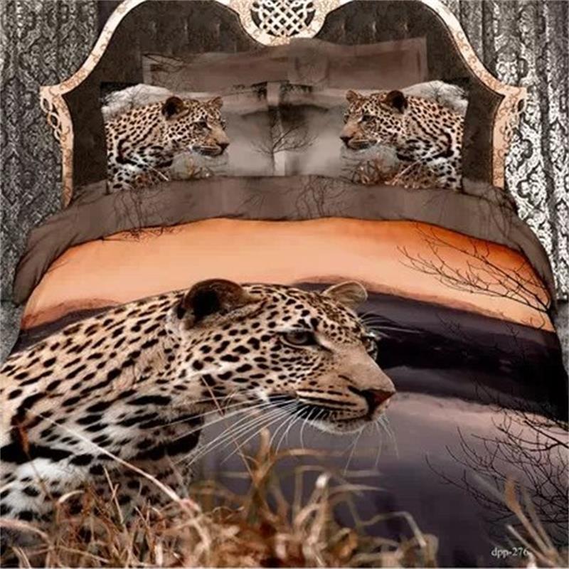 moderno diseo de leopardo d juegos de cama queen size algodn animal impresa textiles