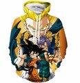 Cool Goku Print 3D Hoodies Men Women Hoodie Sweatshirt Classic Dragon Ball Super Saiyan Hooded Sweatshirts Pullovers