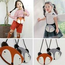 Fox малышей школьные кошелек ручной девушки сумки сумка детские
