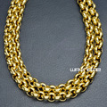 n309-Heavy Gold tone50cm  60cm,70cm Length Men Women Solid link Necklace Chain 7MM W