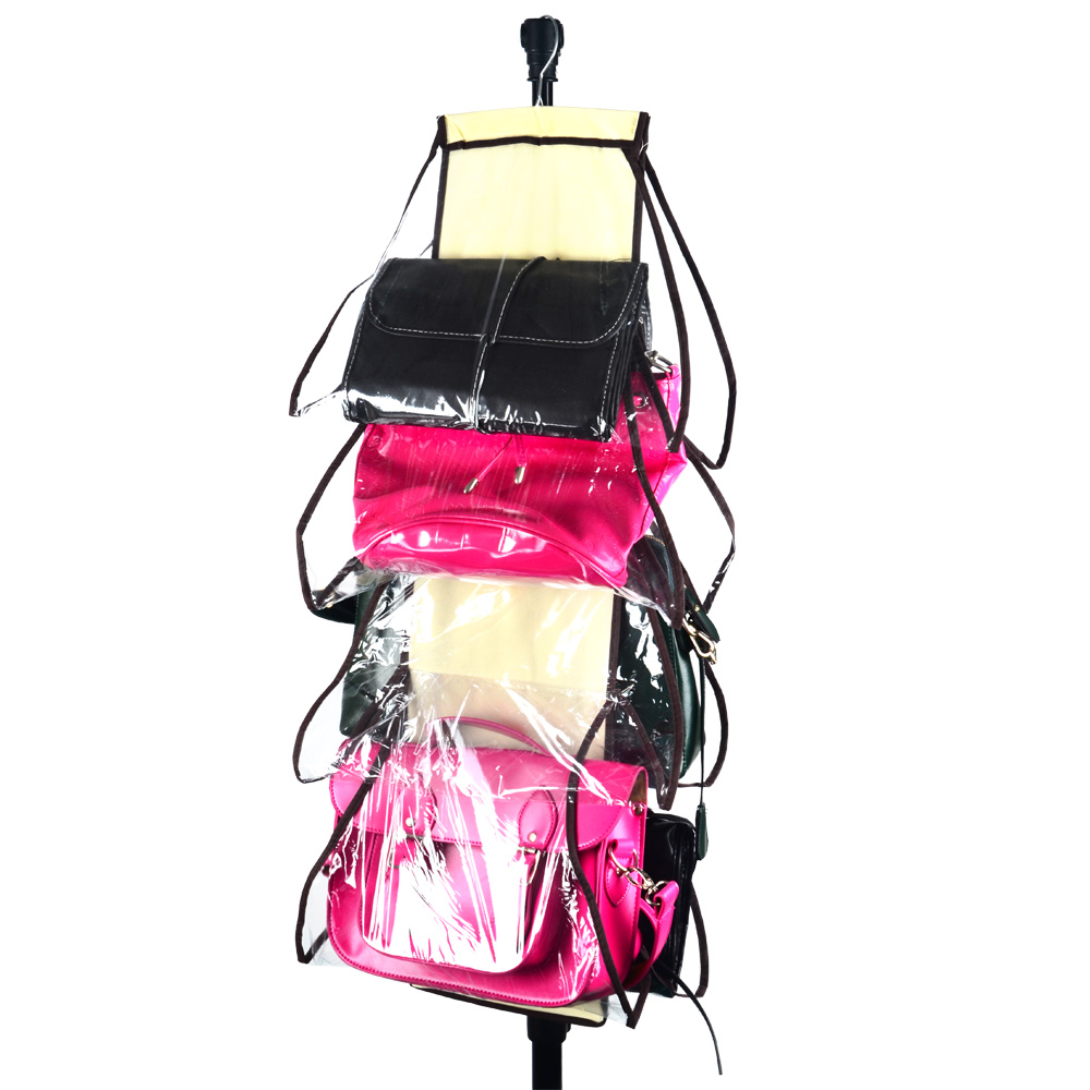 hot 8 pocket storage bag organizador hanging bags closet organizer wardrobe rack hangers holder for fashion handbag purse pouch