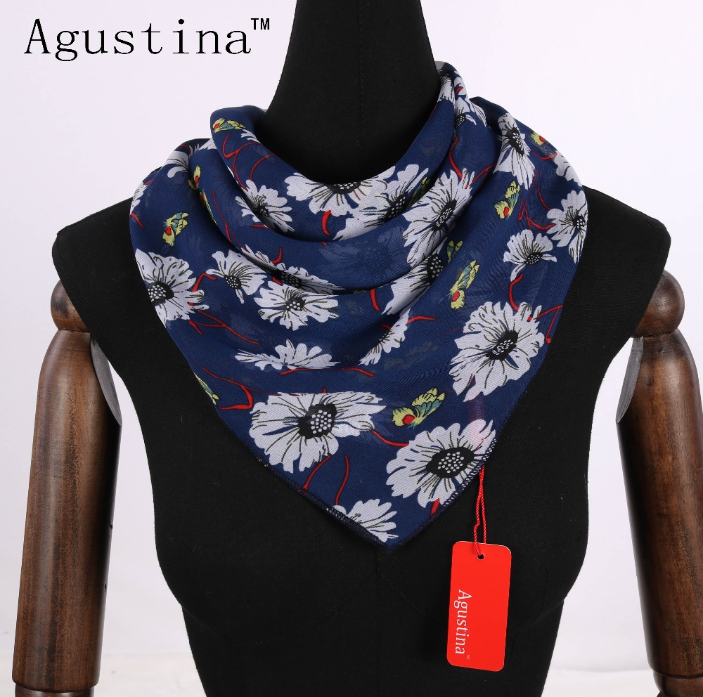 2018 Chiffon Summer Women Luxury Brand Fashion 60*60 Square Scarf Scarves Femme For Ladies Shawl Wraps Scarfs Echarpes Foulards