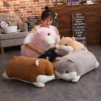 Cartoon Hamster Plush Toy Soft Hamster Long Bolster Cute Stuffed Animals Pillow Kids Birthday Gifts Home Decor