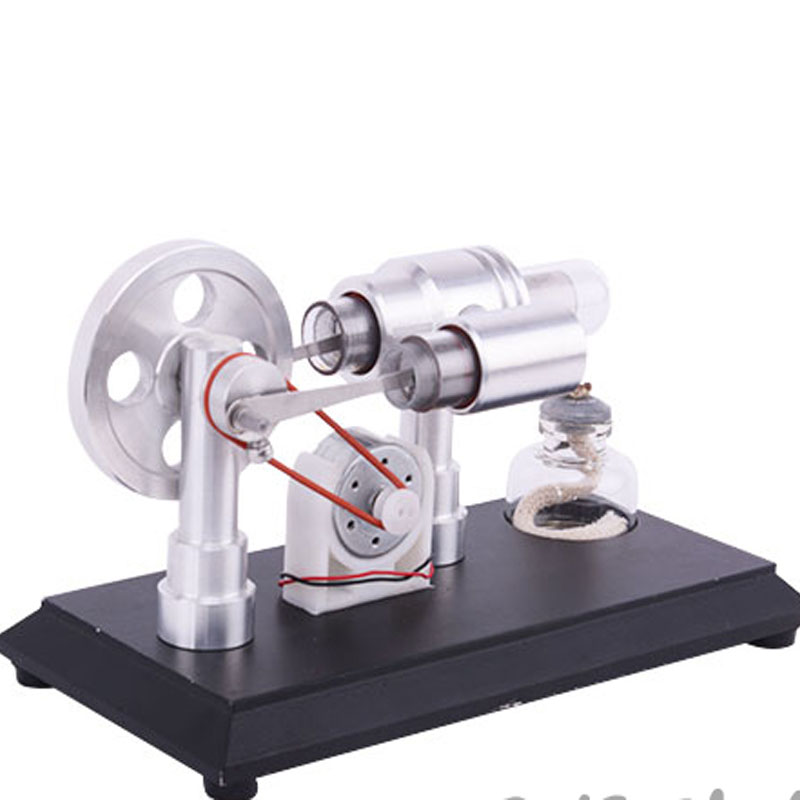 Light cavalry steam engine, engine model, Stirling generator model, micro engine single cylinder stirling engine micro heat engine steam engine model physical experiment gift model