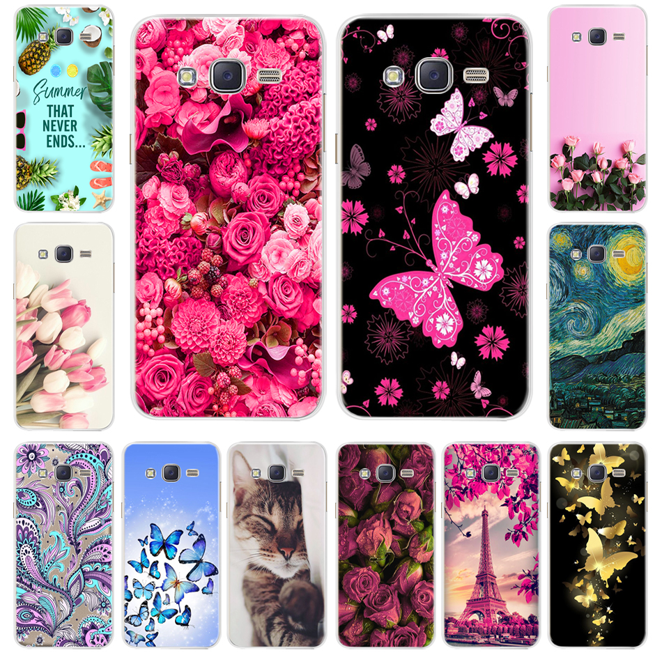 Cute Cat Soft TPU Case For Samsung Galaxy J2 Prime G532F Cover Silicone Phone Case Bumper For Samsung Galaxy J2 Grand Prime 2016 image